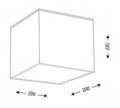 Lampa natynkowa Shilo ZAMA GX53 1x10W kwadrat biały czarny