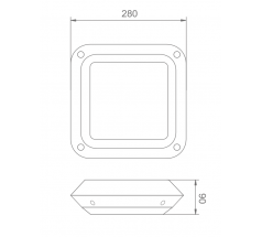 Plafoniera LED Intelight Cosmic Quad CNBOP MT 9W 12W SA