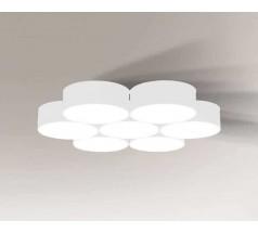 Lampa natynkowa Shilo ZAMA GX53 7x10W tuba biała czarna