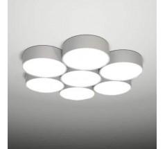 Lampa natynkowa Shilo ZAMA 7x15W 3000K 4000K tuba biała czarna