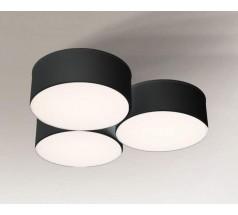 Lampa natynkowa Shilo ZAMA LED 3x15W 3000K 4000K tuba biała czarna
