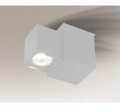 Kinkiet LED Shilo BIZEN GU10 1x8W prostokątny biały czarny