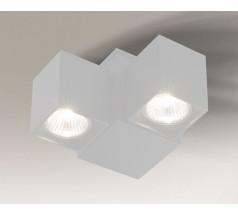 Reflektor Shilo BIZEN GU10 2x8W prostokątny biały czarny