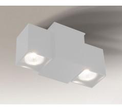 Kinkiet LED Shilo BIZEN GU10 2x8W prostokątny biały czarny