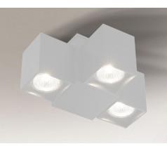 Reflektor Shilo BIZEN GU10 3x8W prostokątny biały czarny