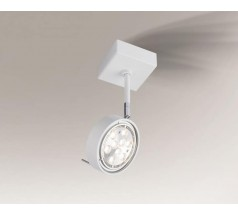 Reflektor Shilo FUSSA GU10/G53 1x15W okrągły biały czarny