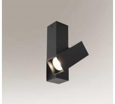 Reflektor natynkowy Shilo Mitsuma GU10 1x5W prostokątny biały czarny