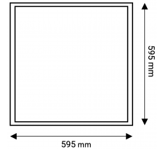 Wodoodporny panel LED 60x60 OXYLED 40W IP65