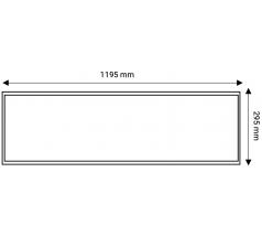 Antyolśnieniowy panel LED 120x30 OXYLED 40W UGR19