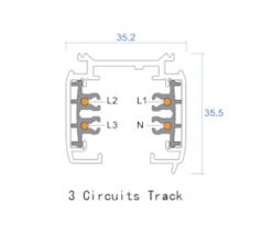 Szynoprzewód 3 fazowy natynkowy POWERGEAR biały czarny różne długości