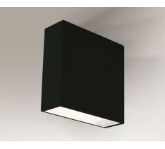 Kinkiet na żarówkę Shilo Kida G9 1x8W kwadrat biały czarny