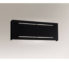 Kinkiet na żarówkę Shilo Kitami G9 2x8W prostokątny biały czarny