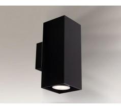 Kinkiet na żarówkę Shilo Kobe GU10 2x8W prostokątny biały czarny