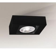 Kinkiet na żarówkę Shilo Koga G53 1x15W kwadrat biały czarny