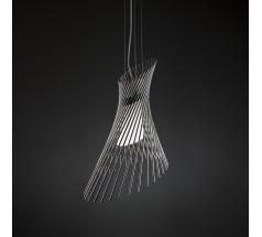 Lampa wisząca na żarówkę Loomiosa Diva E27 czarny srebrny czerwony