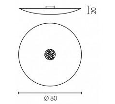 Plafoniera Ramko Aura 80 3xE27+G9 okrągła biała