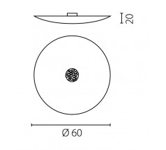 Plafoniera Ramko Aura 60 E27 okrągła biała