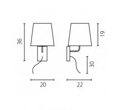 Kinkiet Ramko Bell LED E27 stożkowa biała