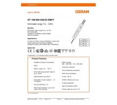 Zasilacz Osram, OT 100/220…240/24 DIM P, 100Q
