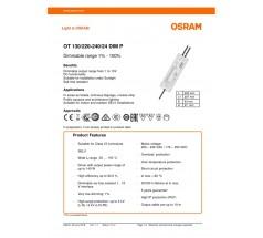 Zasilacz Osram, OT 130/220…240/24 DIM P, 130W