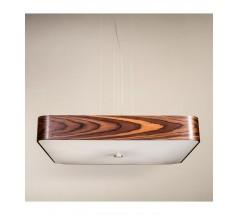 Lampa wisząca Ramko Domino 50 4xE14 kwadratowa drewniana
